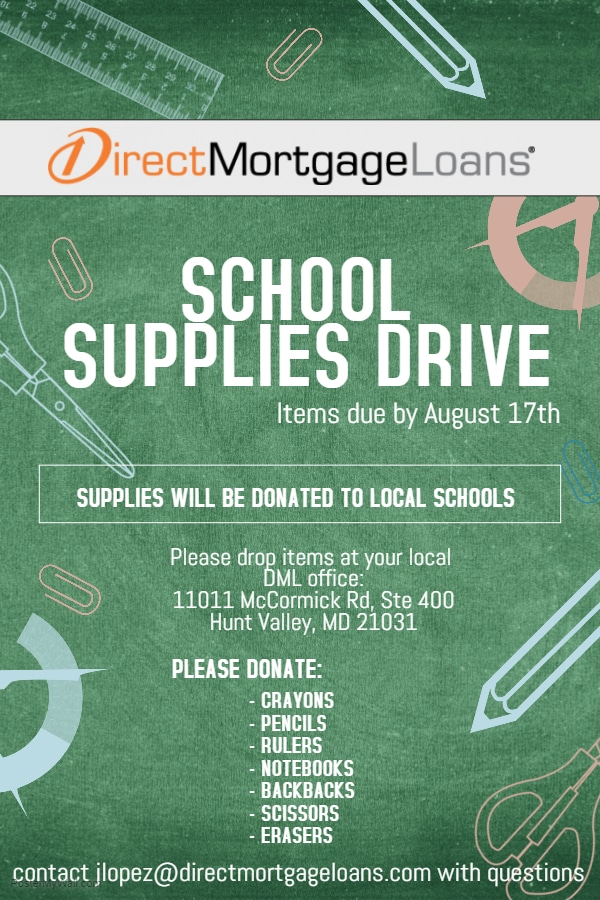 School Supplies Drive
